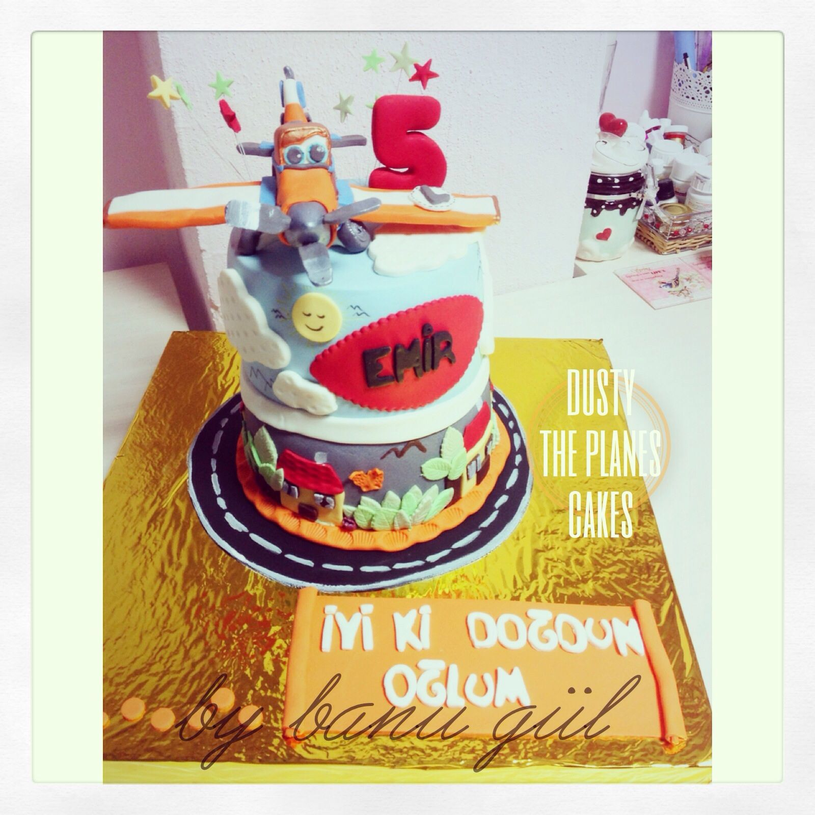 Enjoyable The Planes Cakes Dusty The Plane Birthday Cake For 5 Years Old Personalised Birthday Cards Veneteletsinfo