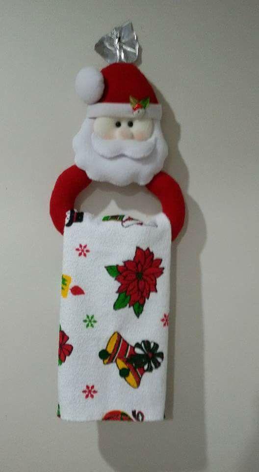 Towel holder felt ideas pinterest navidad adornos y - Ideas adornos navidenos ...