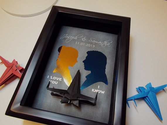Gifts For Fiance On Wedding Day: Boyfriend GIft, Valentines Gift For Him, Star Wars I Love