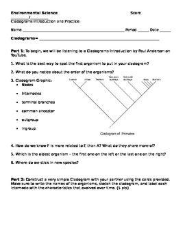 Cladograms Worksheet and Practice | Worksheets, Printable ...