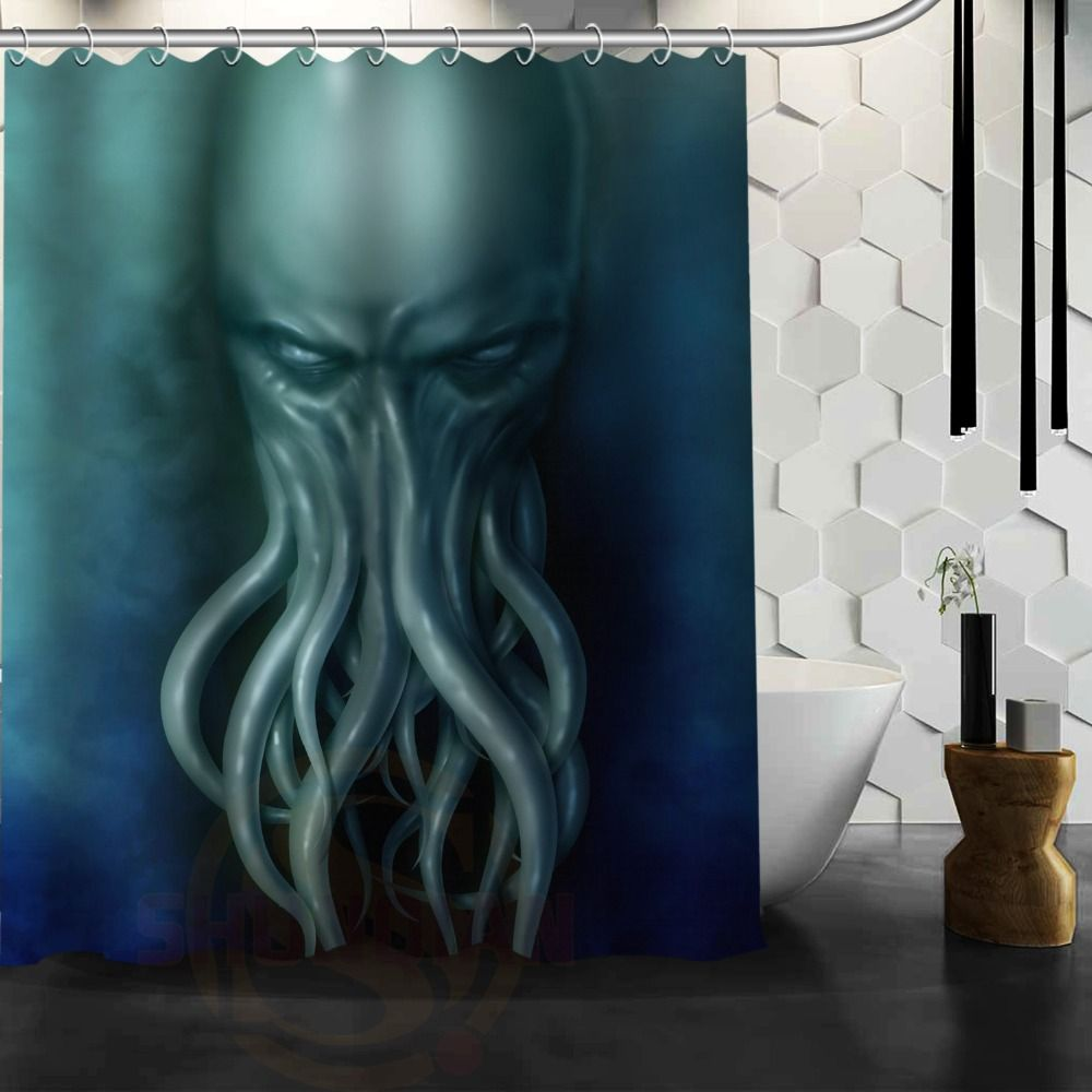 Cthulhu Monster Octopus Customize Shower Curtain Bath Accessories Personalized Waterproof Bathroom Curtains Affiliate