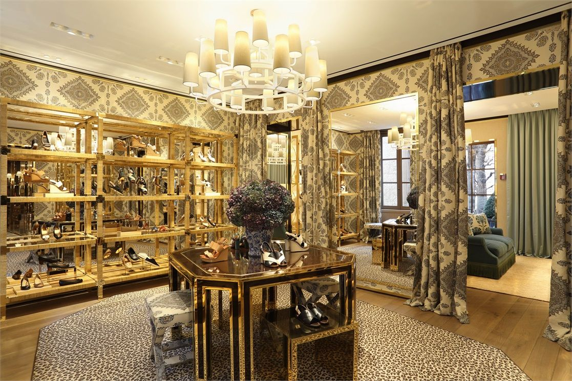 Home Couture Persepolis curtains and wallpaper in