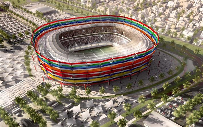 Herunterladen Hintergrundbild 2022 Katar Al Khor Stadion 2022 Fifa World Cup Modernen Fussball Stadion Sport Arena Katar Copa Do Mundo 2022 Estadio Futebol Copa Do Mundo Fifa