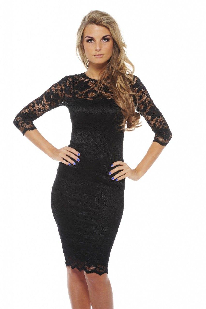 Long Sleeved Lace Dress Black Lace Midi Dress Long Sleeve Lace Dress Fashion [ 1280 x 852 Pixel ]