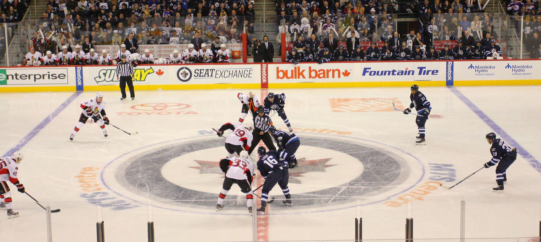 The Winnipeg NHL Jets Winnipeg jets, Ottawa senators