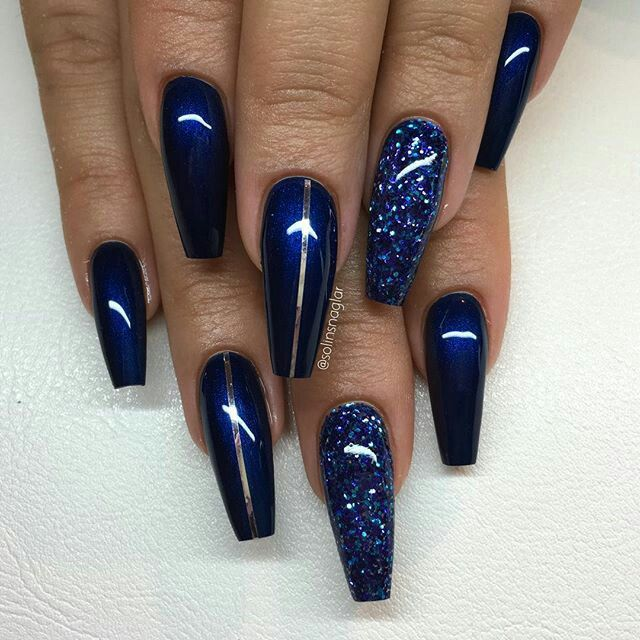 Cute Nails Blue Acrylic Nails Pretty Acrylic Nails Blue Coffin Nails