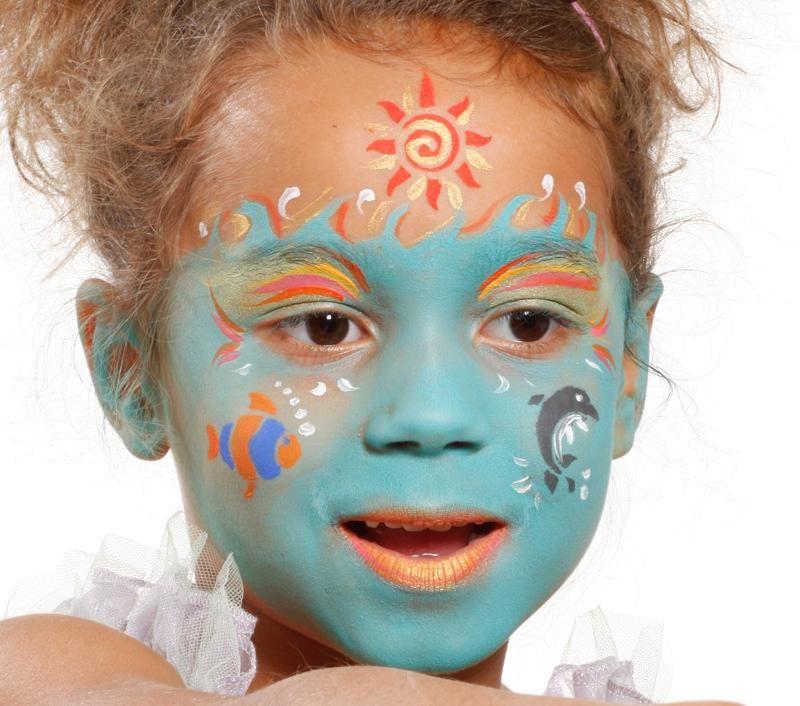 Grimtout maquillage l 39 eau sirene enchant e tape 4 maquillage enfants pinterest - Maquillage princesse facile ...