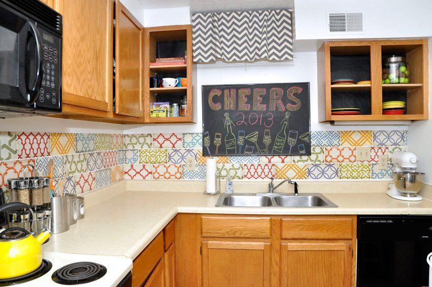 15 Ideas for Removable, DIY Kitchen Backsplashes | Diy ...