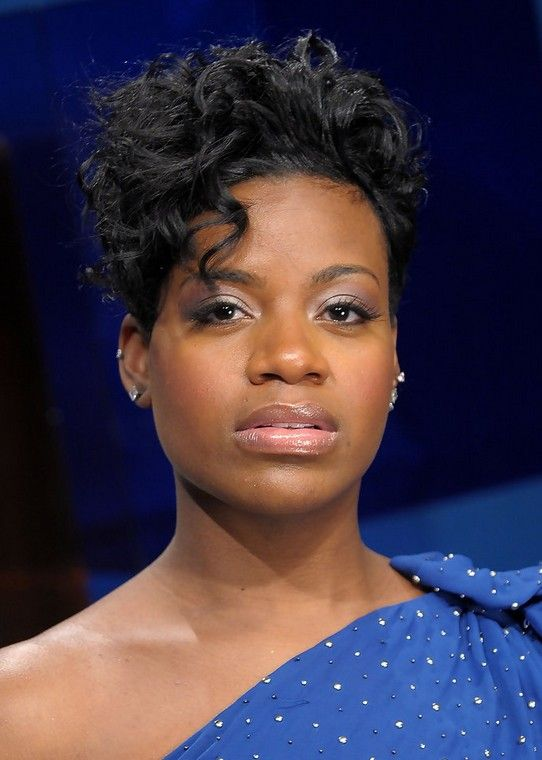 Fantasia Barrino Edgy Short Black Curly Hairstyle For Black
