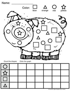 FREE: Piggy Shape Graph via Donna Glynn / Kinderglynn. 1