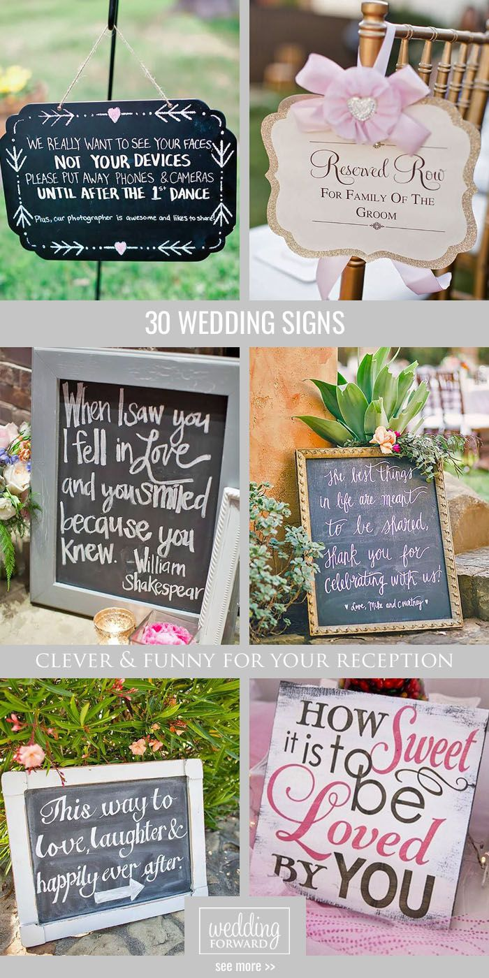 24 Clever u0026 Funny Wedding Signs For