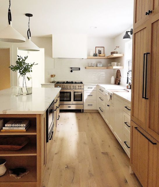 No Kitchen Cabinet Ideas: White Cabinets, No Upper Cabinets, Floating Shelves, White