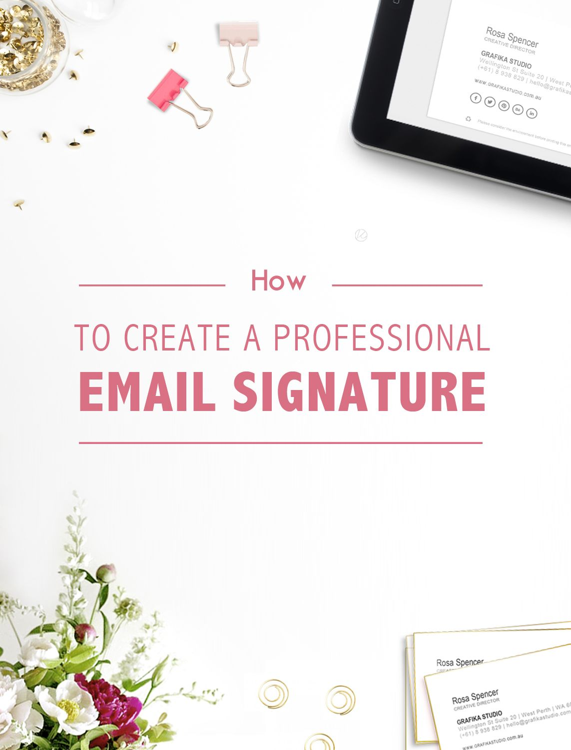 How To Create A Professional Email Signature  Professional Email