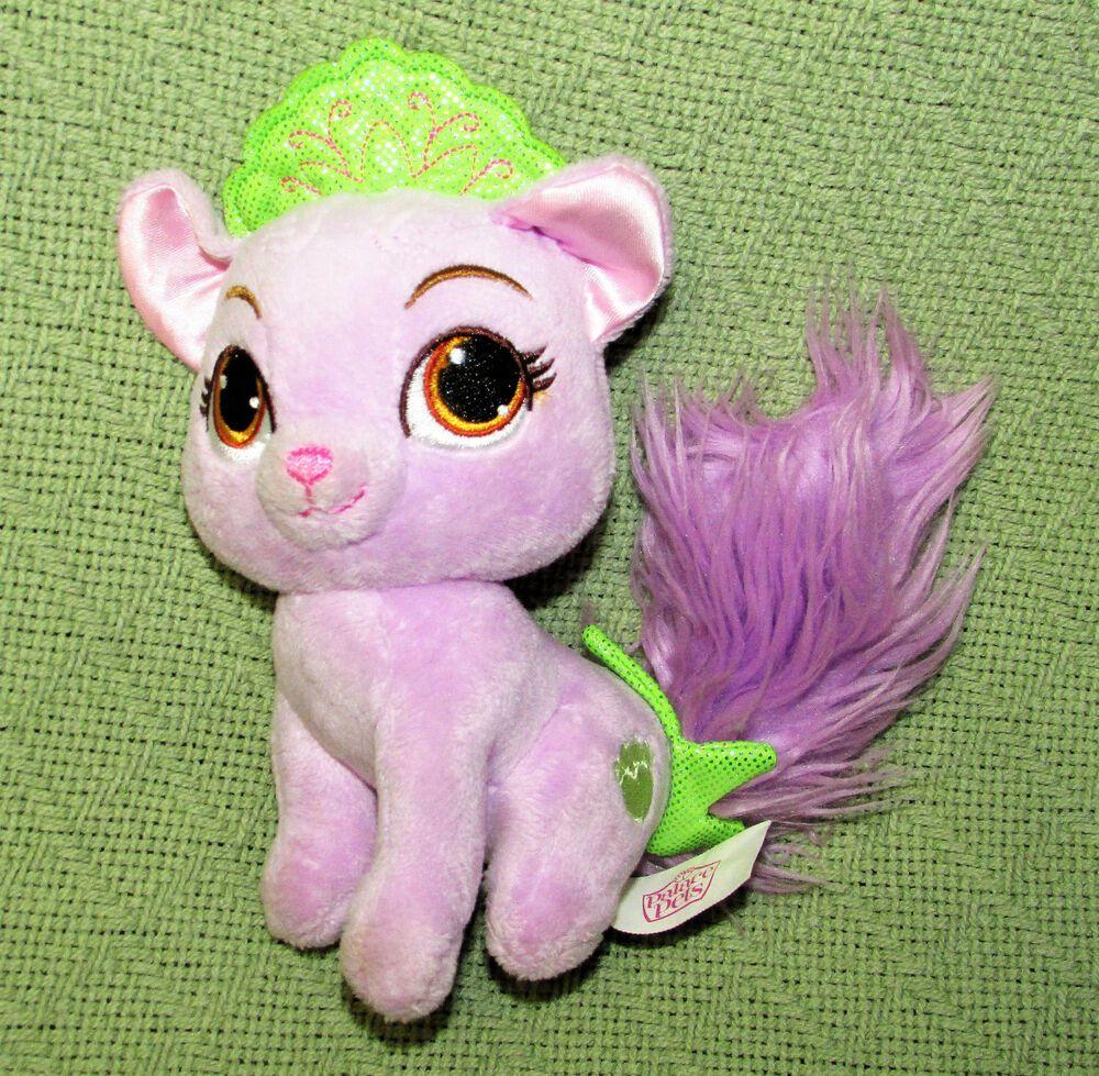 Disney Palace Pets 6 Matey Purple Cat Ariel Stuffed Animal Green Crown Kitty Disney Palace Pets Disney Princess Palace Pets Princess Palace Pets