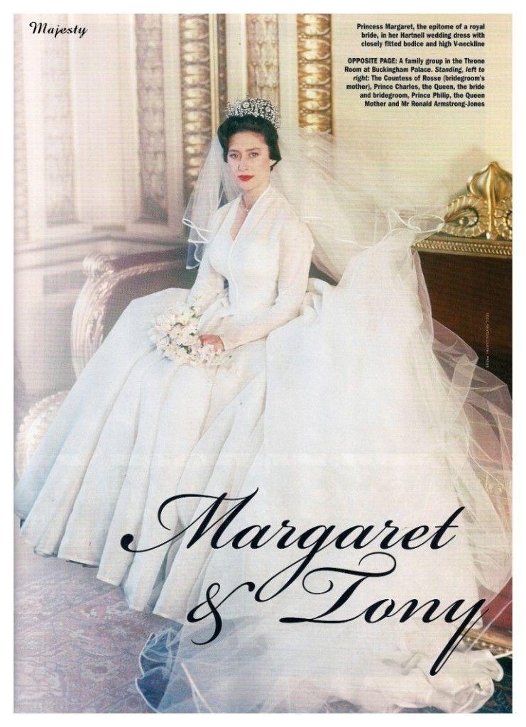 Margaret On Her Wedding Day Royal Brides Princess Margaret Bride