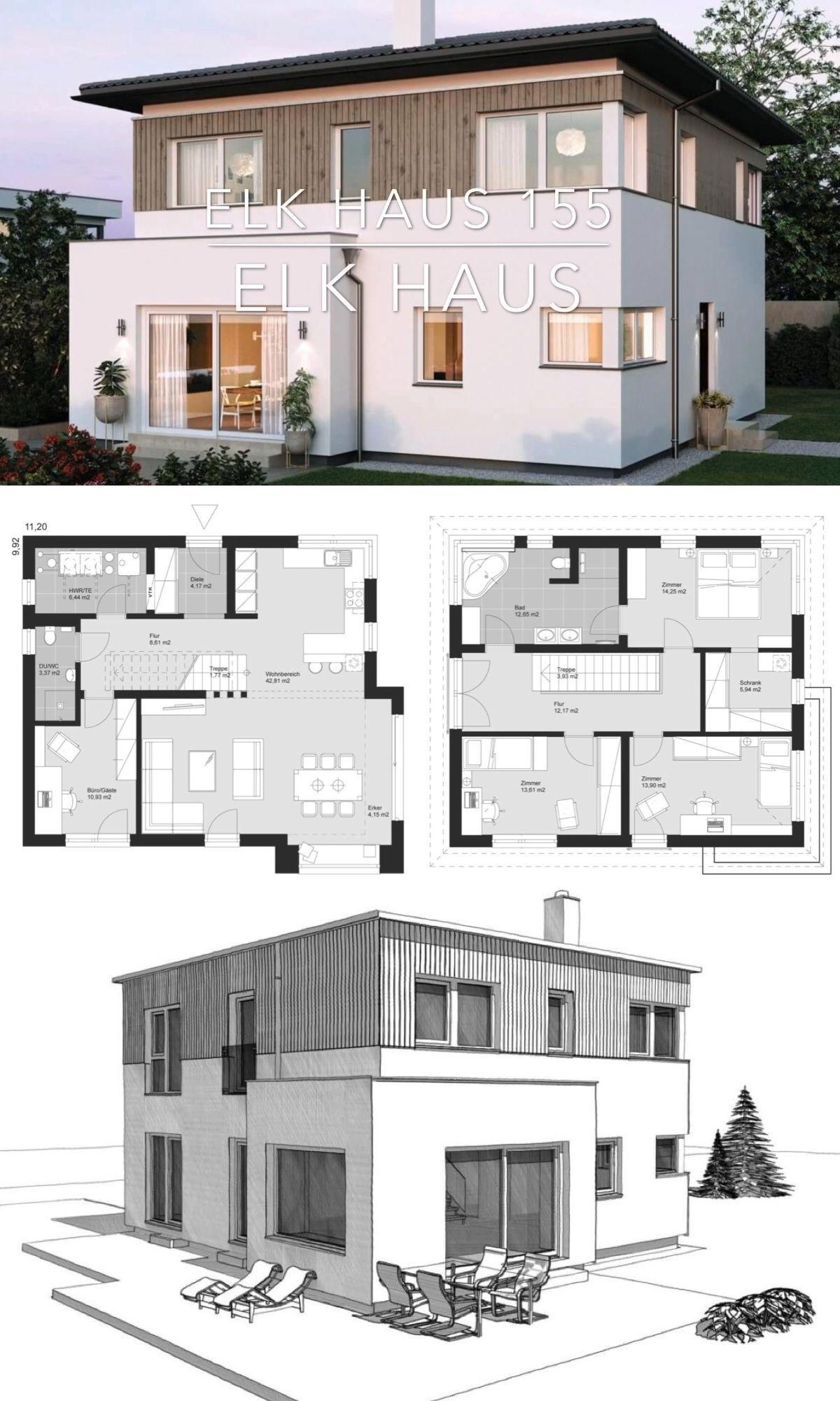 Modern European Architecture House Plan Elk Haus 155 Modern European Architecture Design In 2020 European Architecture Architecture House House Architecture Design