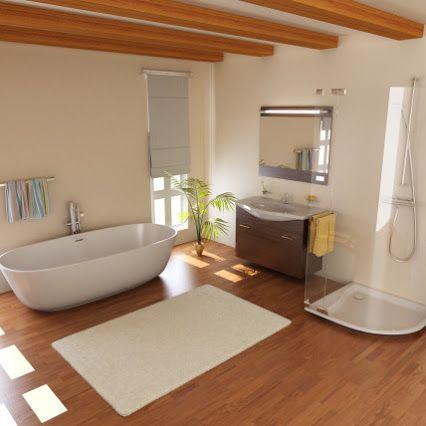 Salle de bain moderne et contemporaine #salledebain #pierreetgalet
