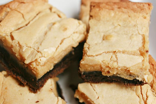 Chocolate Peanut Butter Chess Squares Sweet Tooth