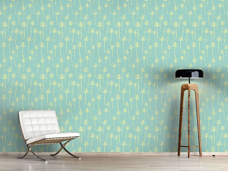 Design #Tapete Distel Silhouetten
