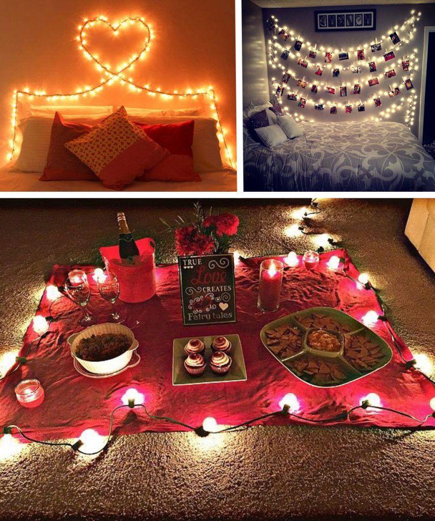 1000 Ideas About Romantic Surprise On Pinterest: Dia Dos Namorados: Decoração Romântica