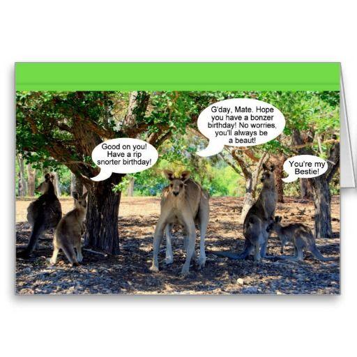Kangaroo Family Happy Birthday Humor Card Zazzle Com Funny Birthday Cards Happy Birthday Funny Funny Cards