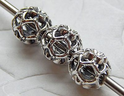 Authentic Trollbeads Zucchini Flower Sterling Silver Bead