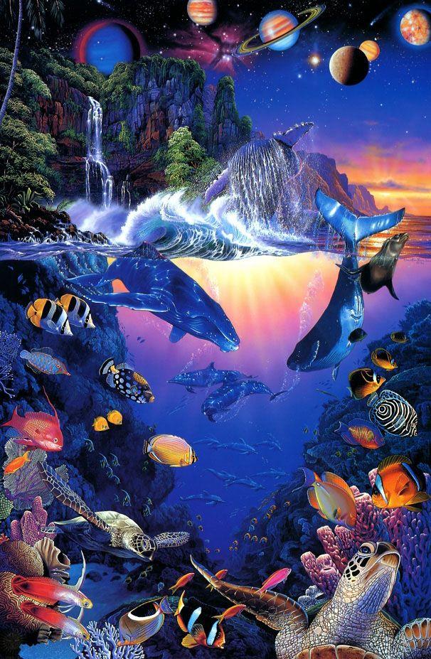 Pin by Barb Rocen on Life's a Beach   Sea life art, Underwater art,  Beautiful fantasy art