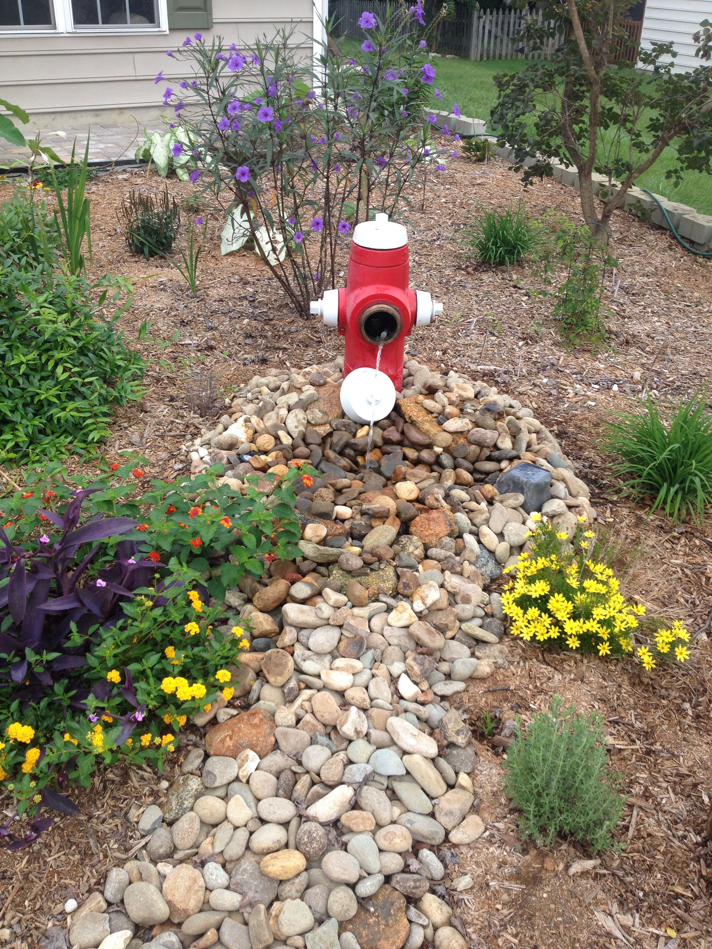 Fire Hydrant Fountain Indoor Water Garden Water Features In The Garden Landscaping With Rocks