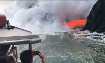 Un volcán activo en Hawai sorprende a los turistas. ¡Espectacular!