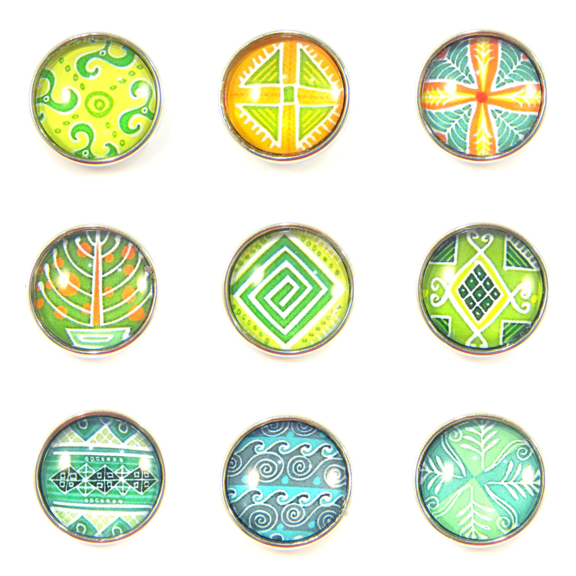 Noosa Style Chunk Chunks Ginger Snap Button Jewellery Charms Tropical 18mm