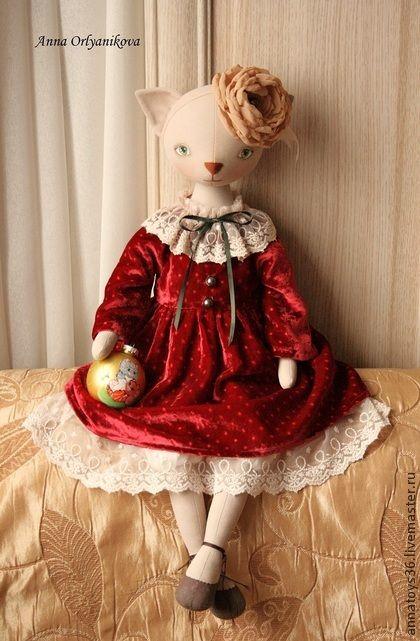 Коллекционные куклы ручной работы. Ярмарка Мастеров - ручная работа Кошка Дашенька. Handmade.