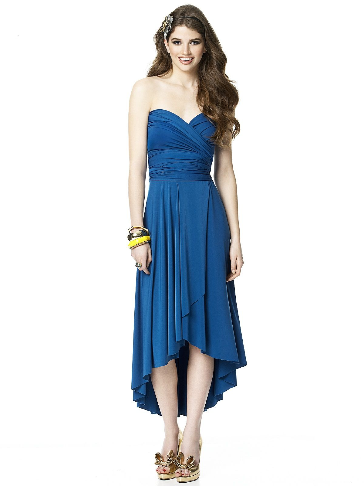 Twist Bridesmaid Dress by Dessy Group : sweetheart strapless twist ...