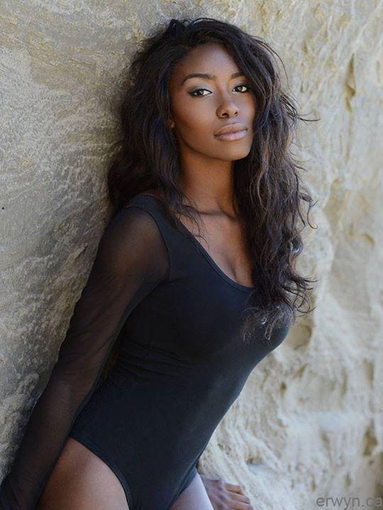 Beautiful black female models what