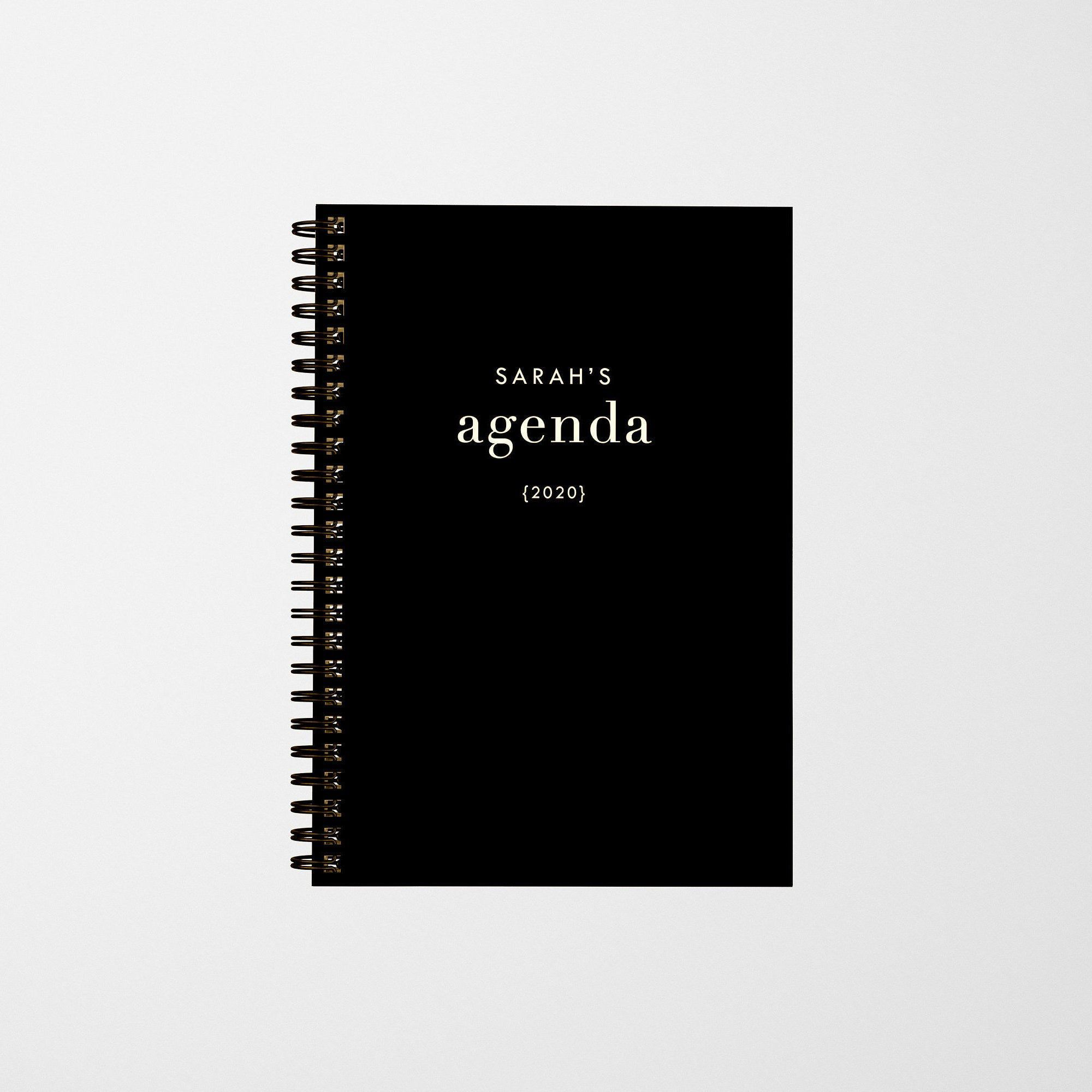 Personalized 2020 Planner, Agenda, Diary in 2020