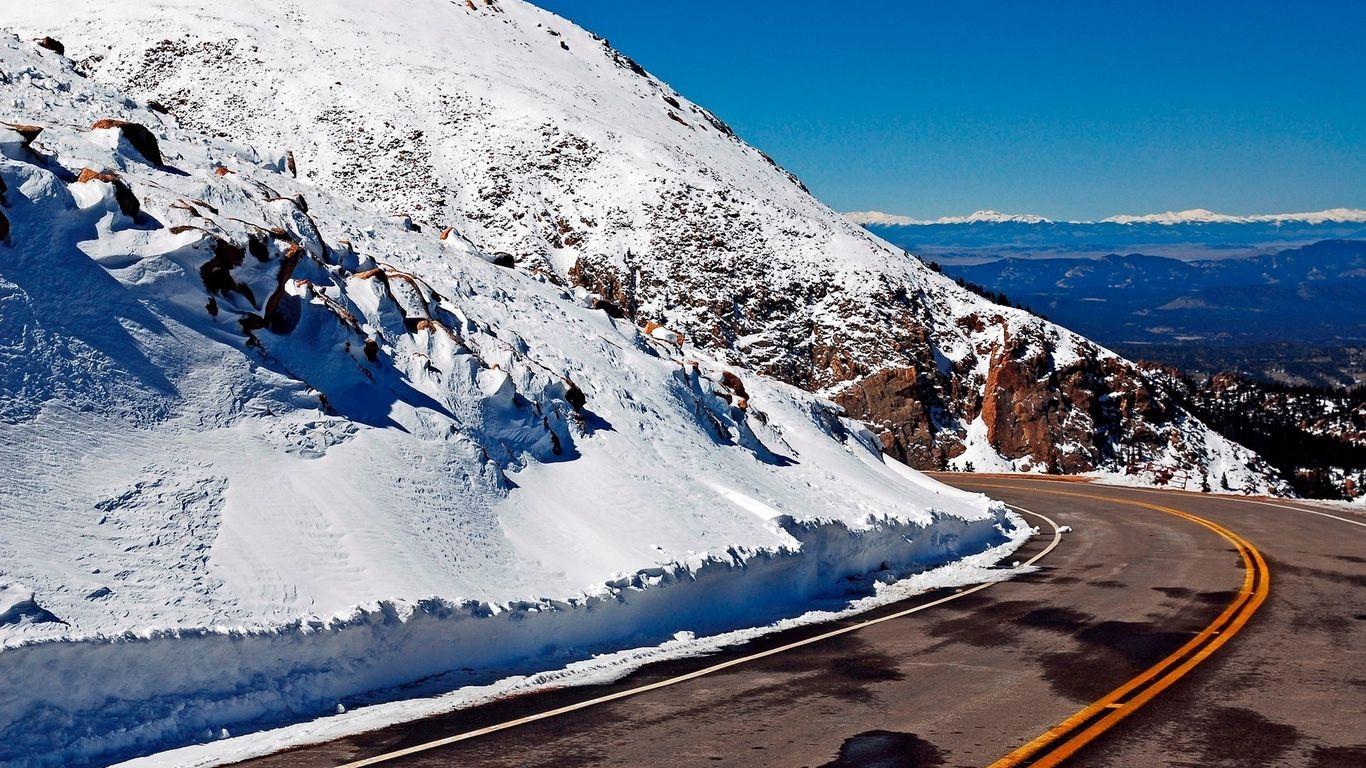 Pin On Wallpaper Hd wallpaper snow winter road asphalt