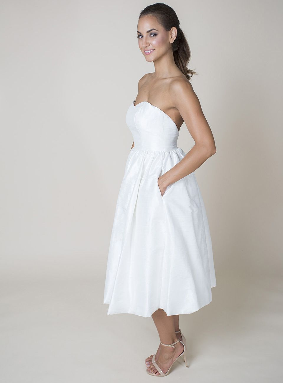 Ollie aliceu vintage and sweet this tealength wedding dress