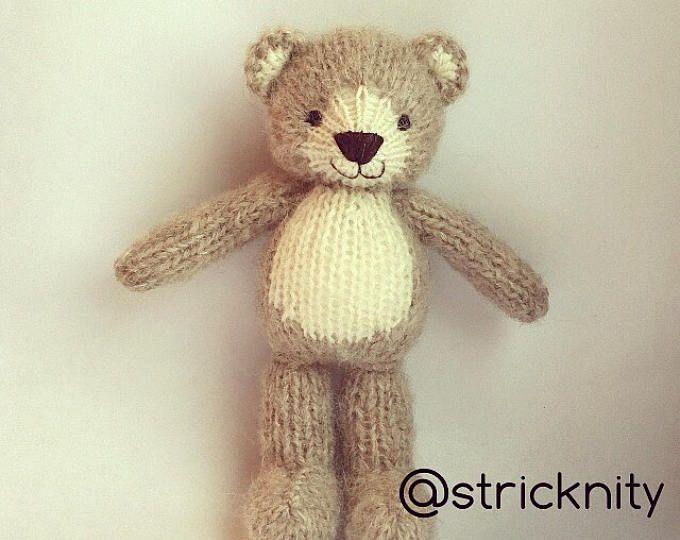 Ours en peluche tricoté pour bébé, nouveau-né | hračky | Pinterest ...