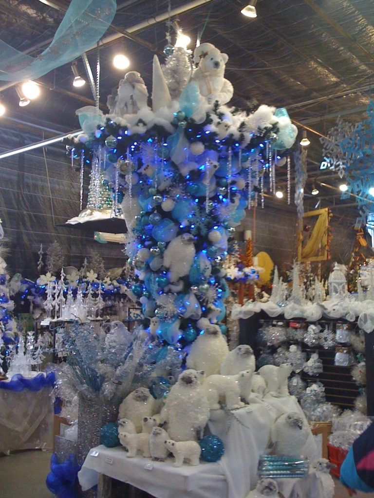 2020 new year Blue christmas tree decorations, Christmas