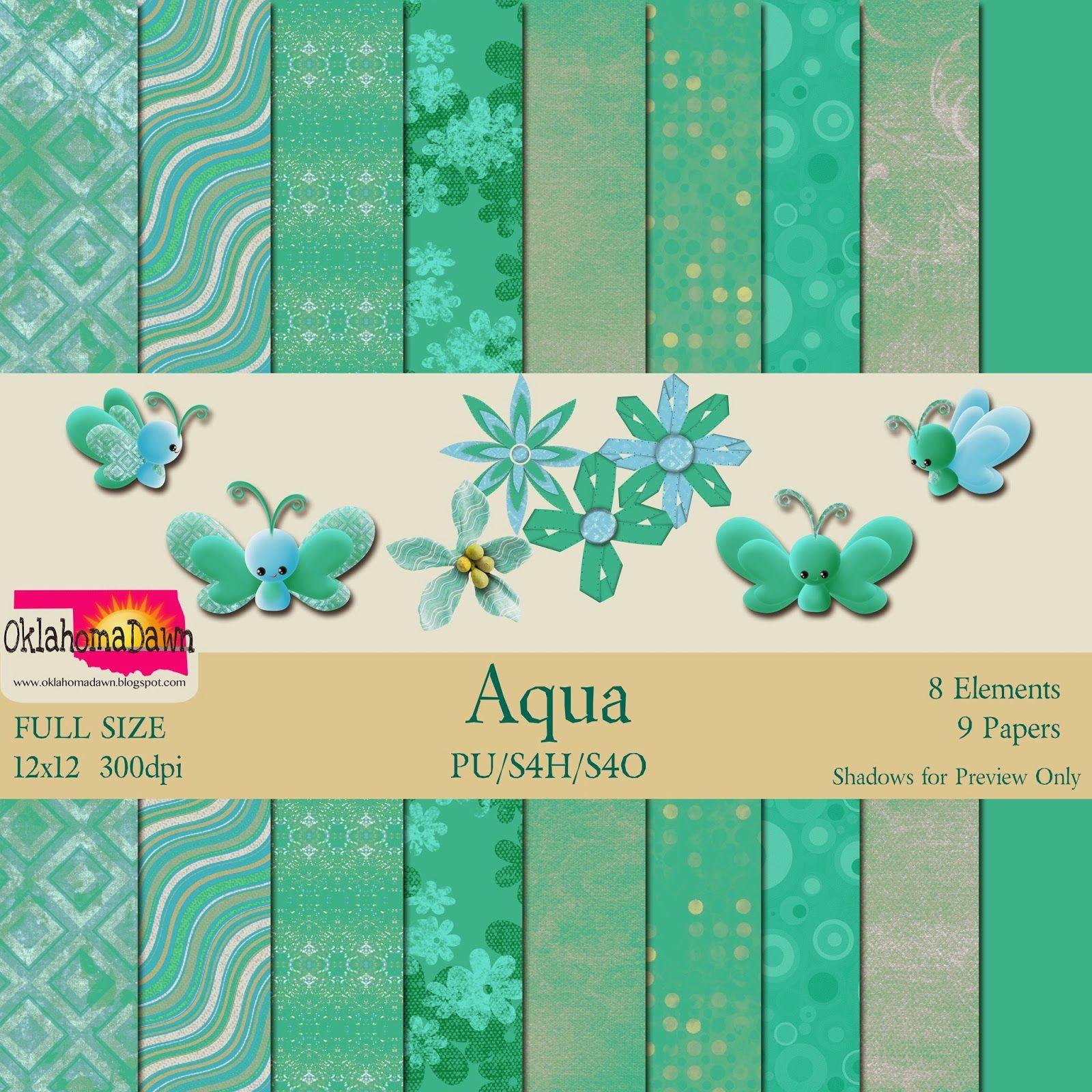 OklahomaDawn: Free Mini Kit ~ Aqua
