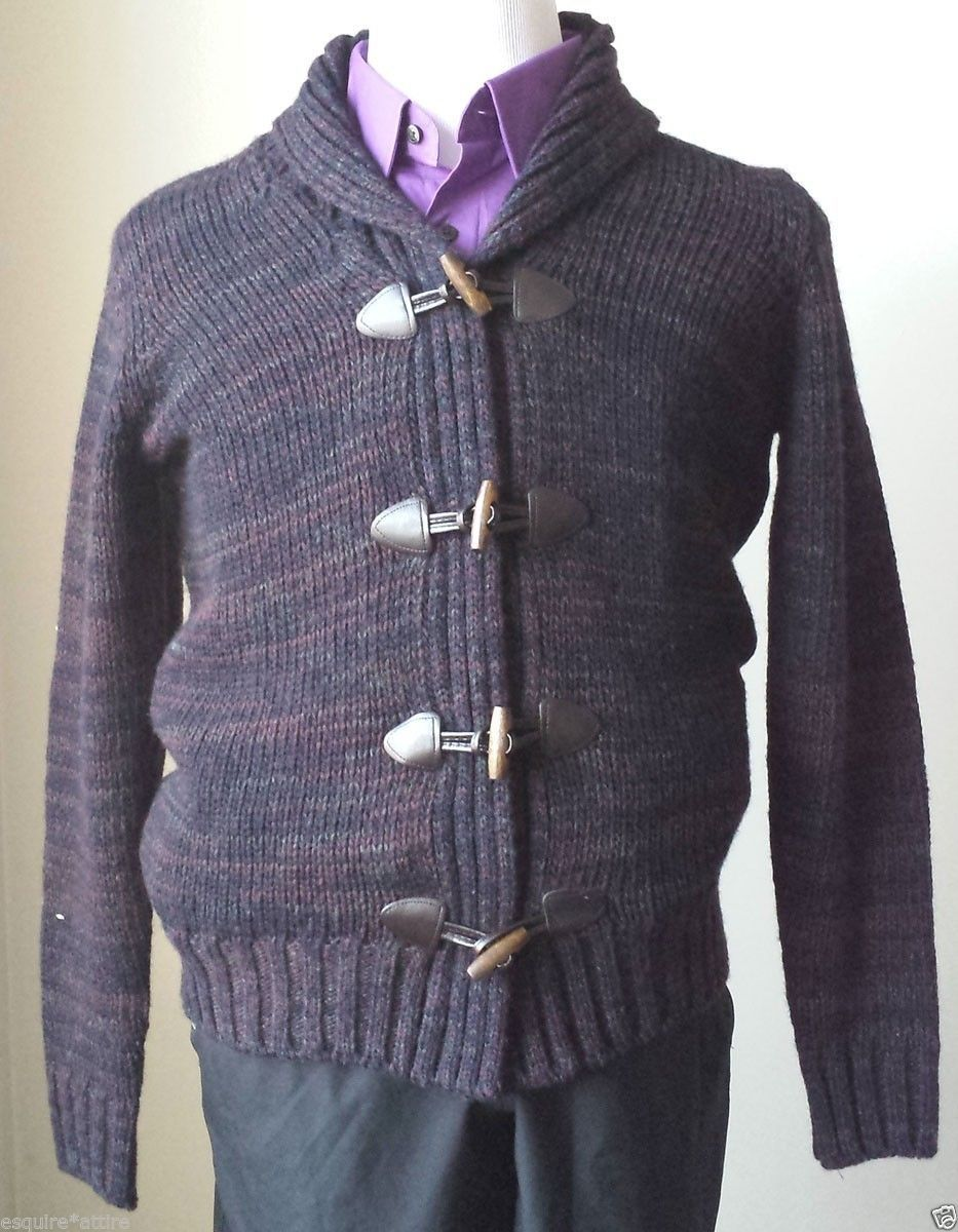 ebay Daniele Blasi men cardigan style sweater size S wool blend ...