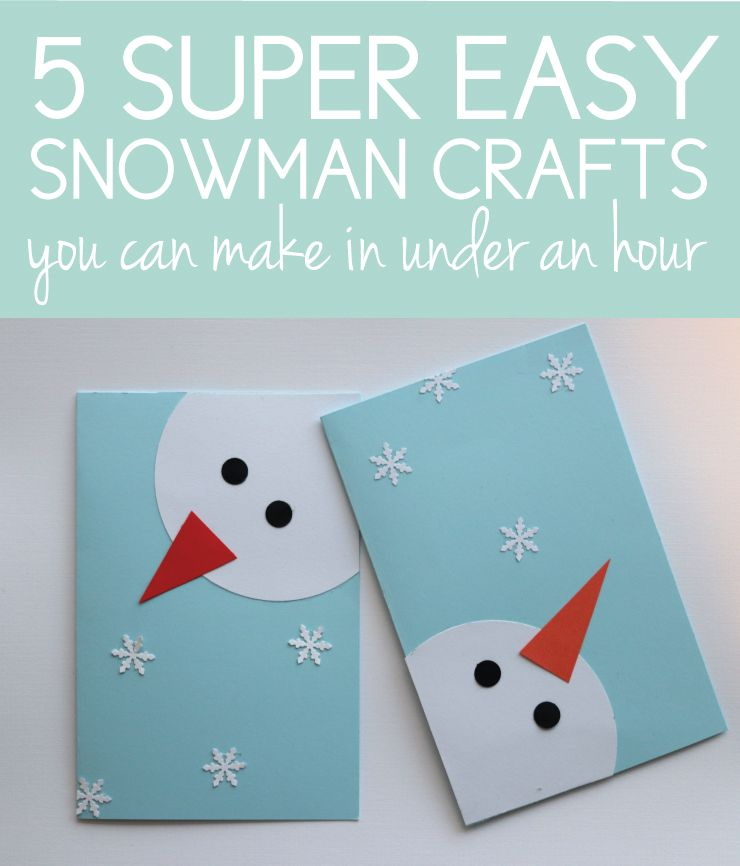 Photo of 5 Snowman Crafts You Can Make in an Hour with Dollar Store Supplies –