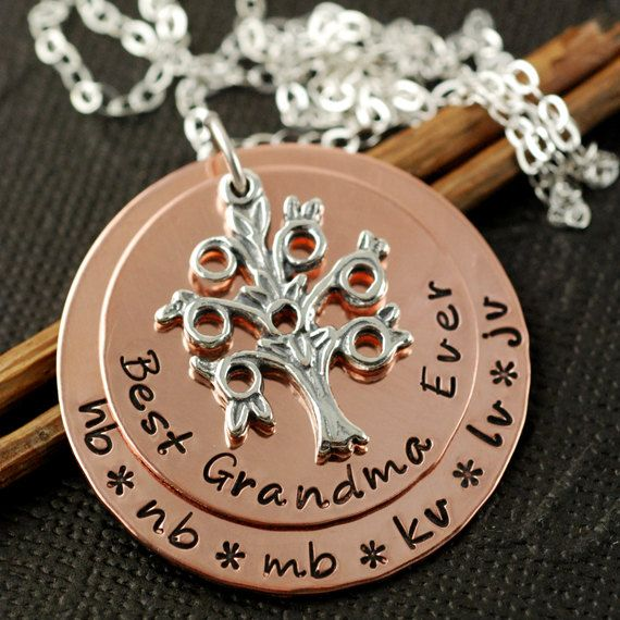 Hand Stamped Necklace Personalized Jewelry Copper by AnnieReh, $55.00