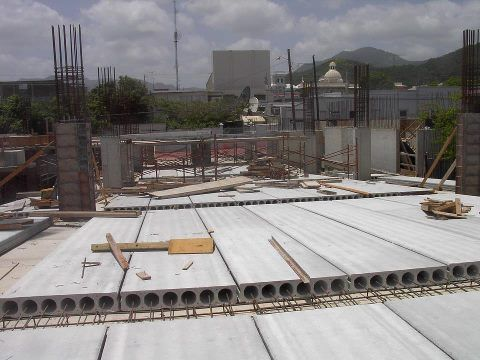 Prestressed Concrete Slab A hollow core slab, also known as