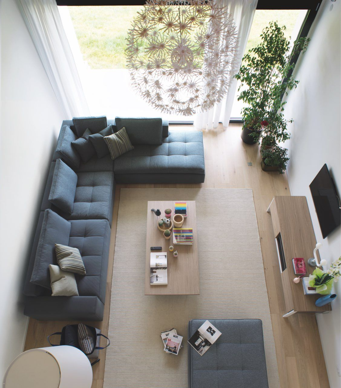 A Birds Eye View Of A Living Room Furniture By Callig