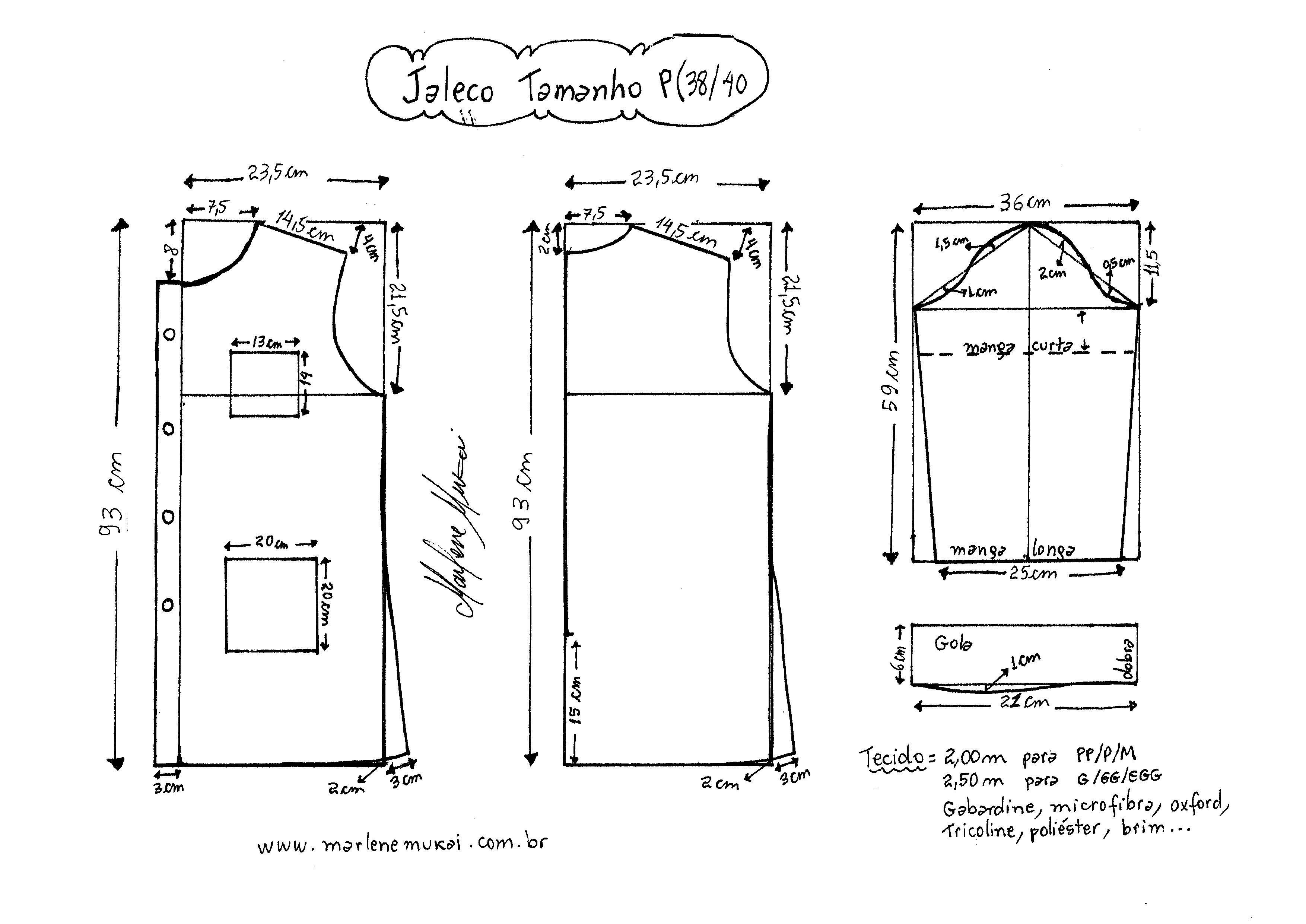 Jaleco-P.jpg (3507×2481) | lilian | Pinterest | Costura, Uniformes y ...