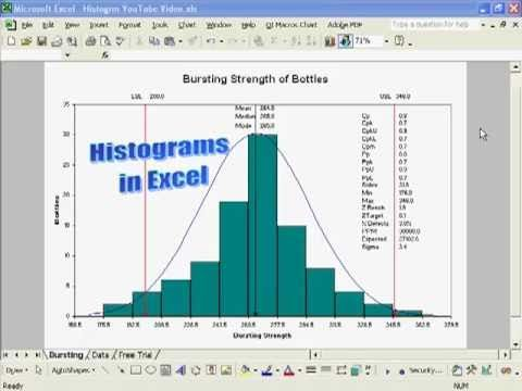 Create A Histogram In Excel With Process Capability Metrics Cp Cpk Pp Ppk Xl2003 You