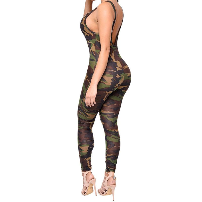 98afd529629 Yel Hot Sexy Girls Backless Playsuit Fitness Yoga Sport Suit Gym Tracksuit  For Women One Piece