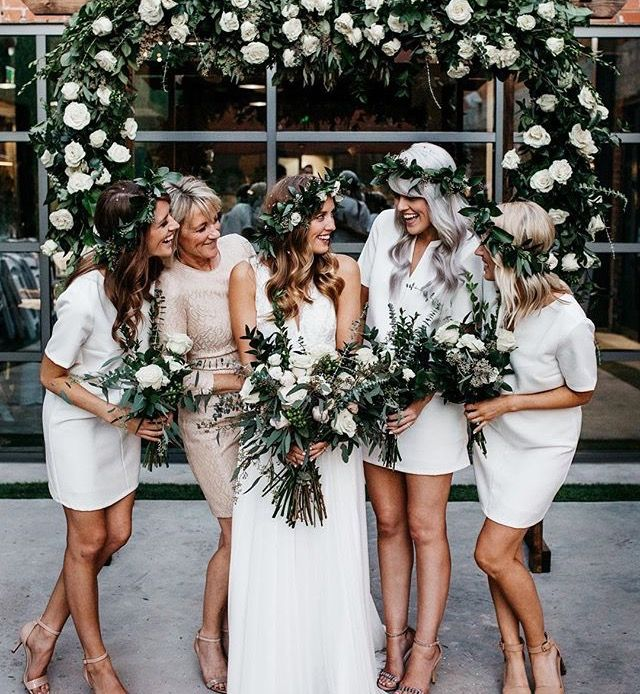 Boho Chic- Bride and her Maids.