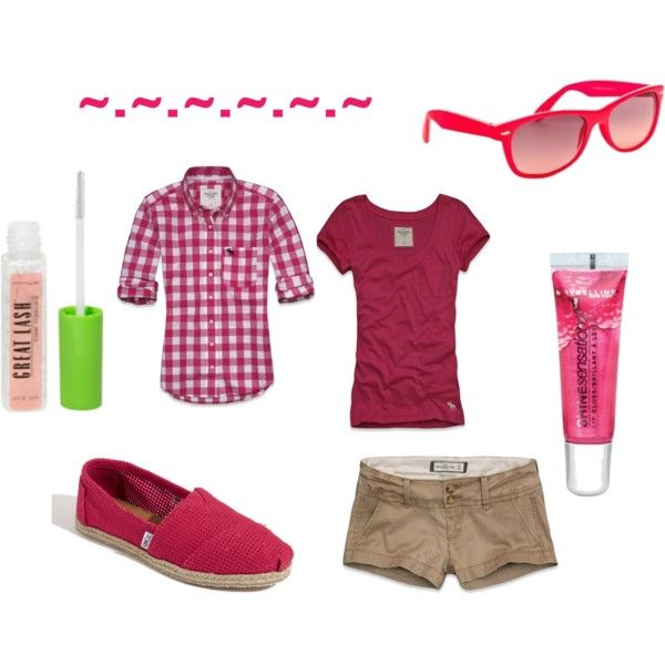 summer pink, created by claireyberry102 on Polyvore