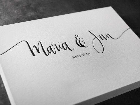 Letterpress Buchdruck Baumwollpapier Wien Hochzeit Einladung
